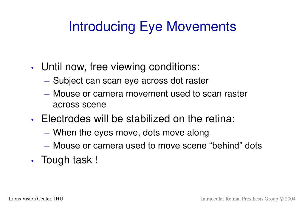 Introducing Eye Movements