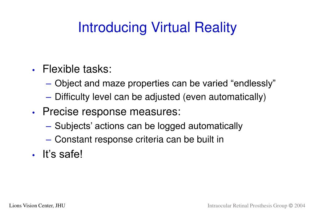 Introducing Virtual Reality
