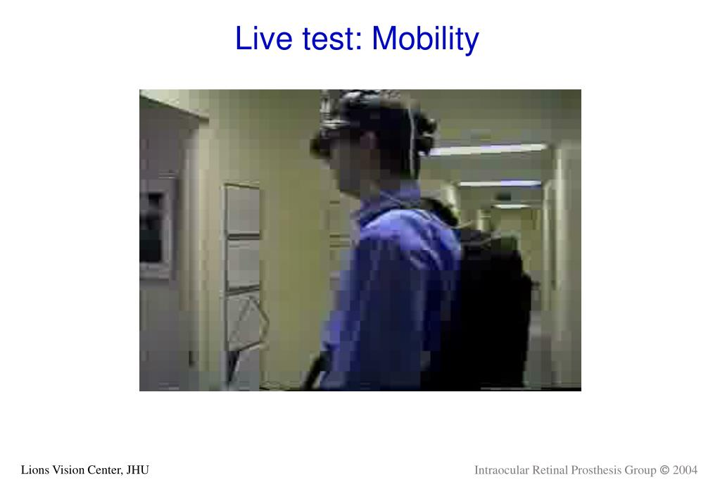 Live test: Mobility