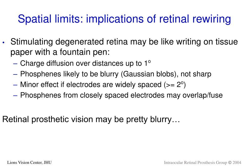 Spatial limits: implications of retinal rewiring