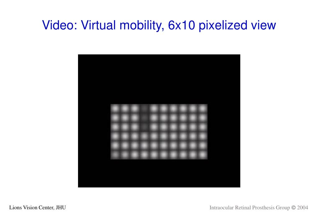 Video: Virtual mobility, 6x10 pixelized view