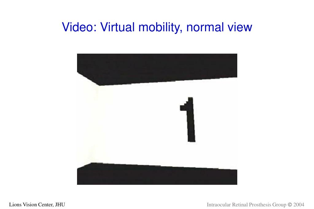 Video: Virtual mobility, normal view