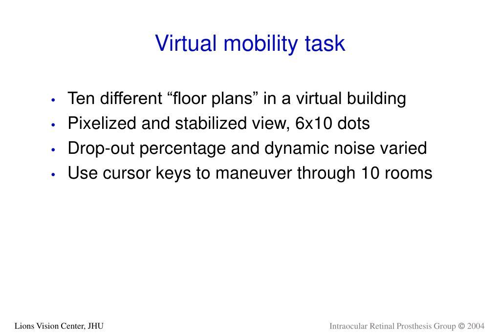 Virtual mobility task