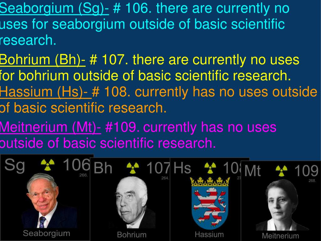 Seaborgium (Sg)-