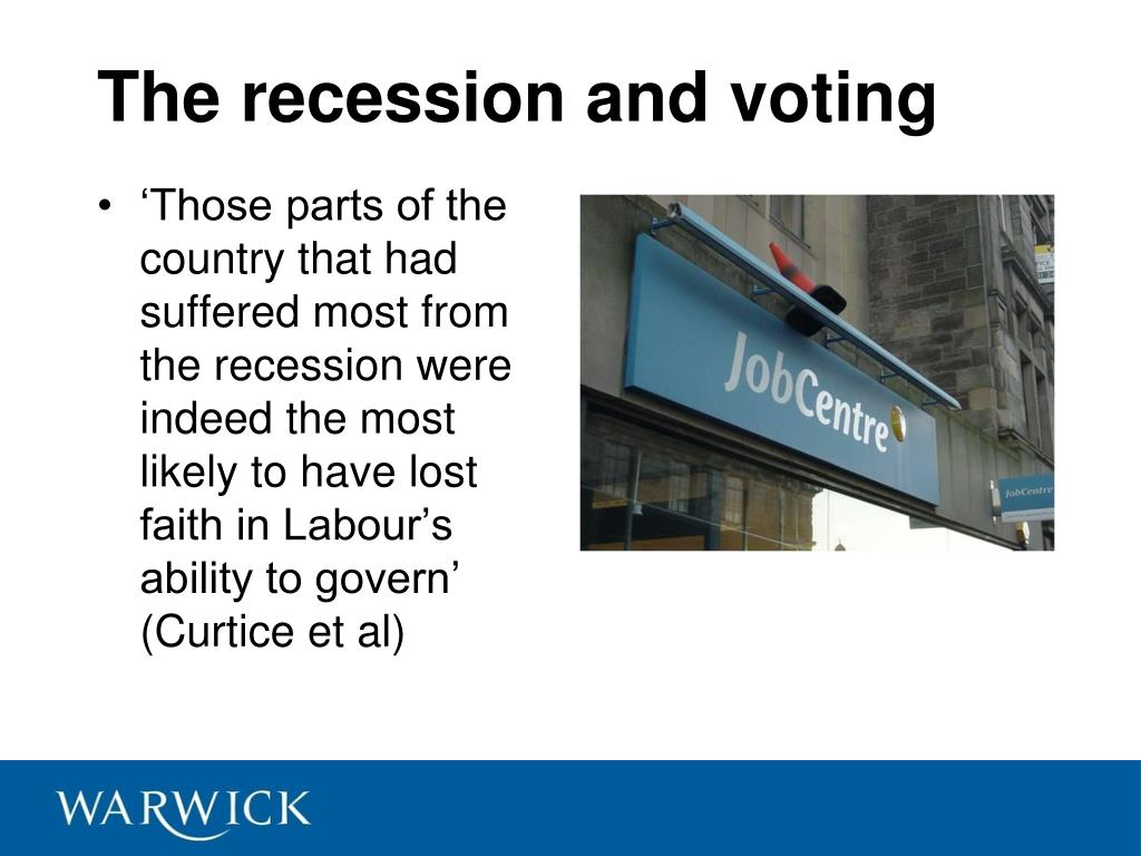 The recession and voting