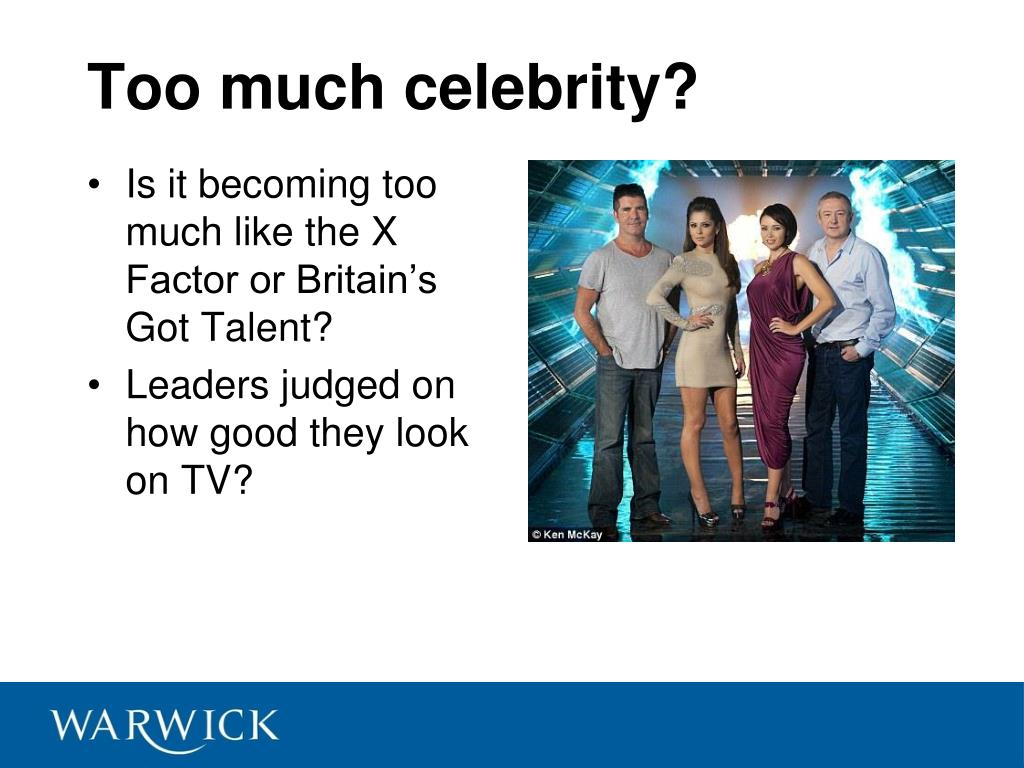 Too much celebrity?