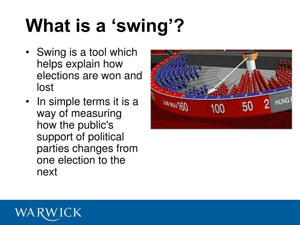 What is a 'swing'?