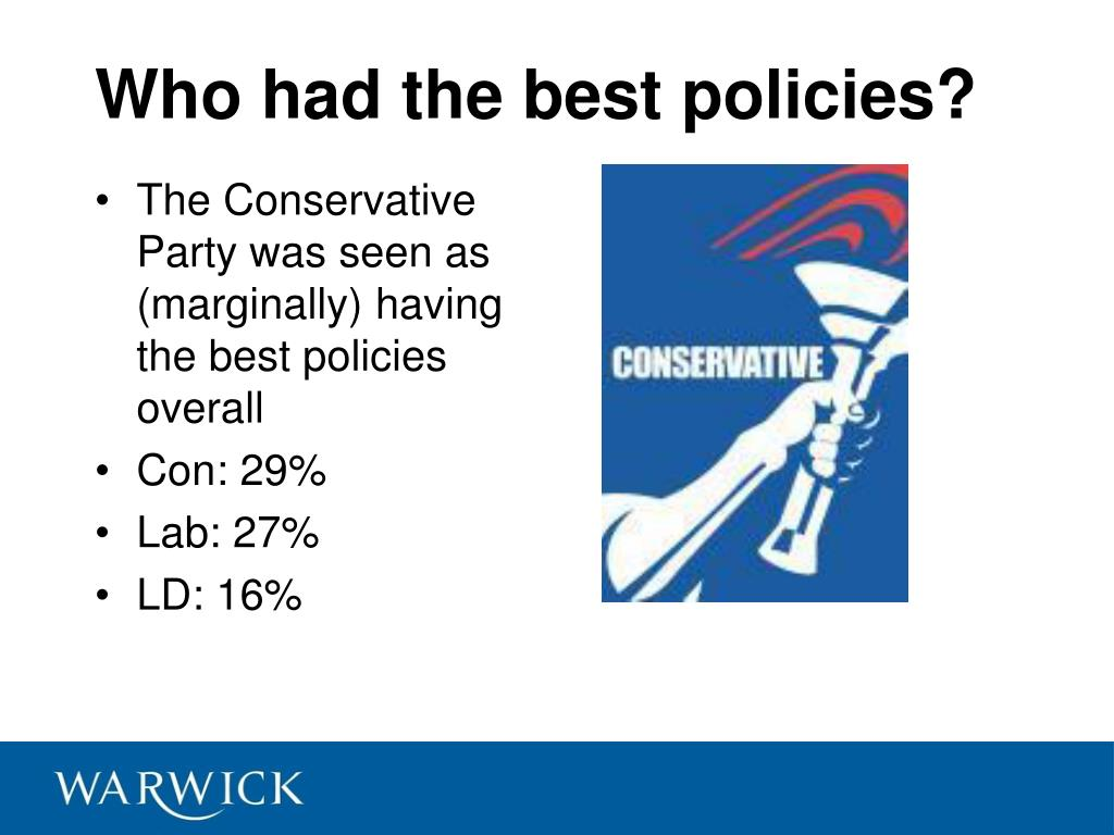 Who had the best policies?