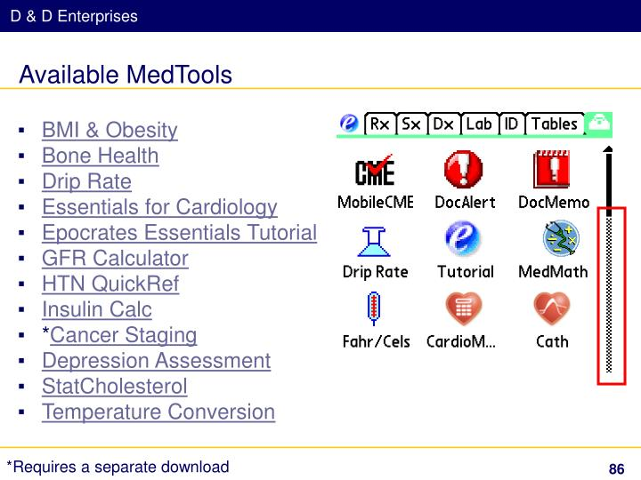 Available MedTools