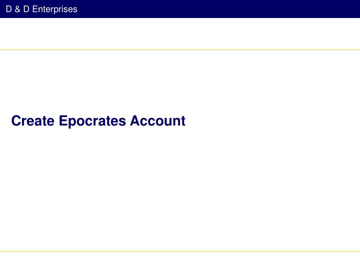 Create Epocrates Account
