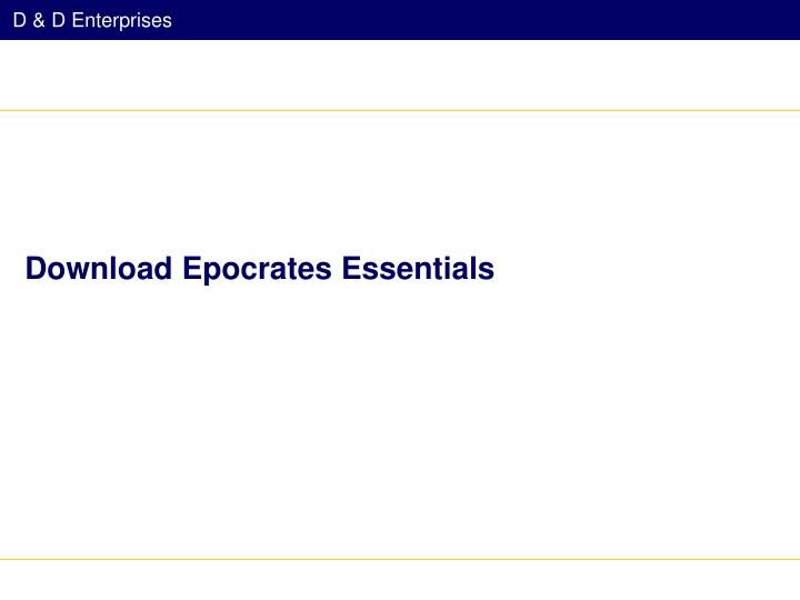 Download Epocrates Essentials