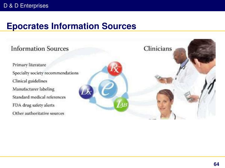 Epocrates Information Sources