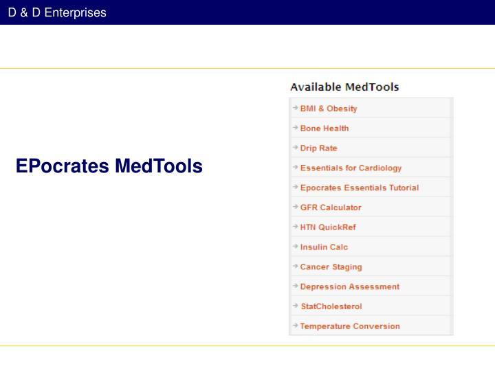 EPocrates MedTools