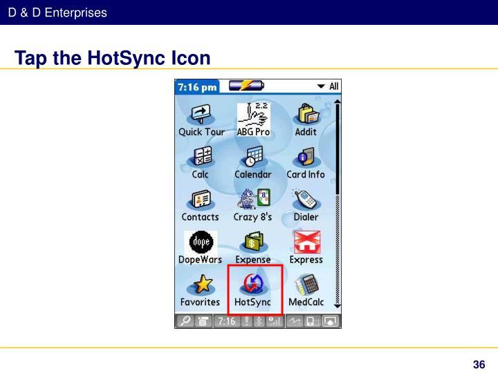 Tap the HotSync Icon