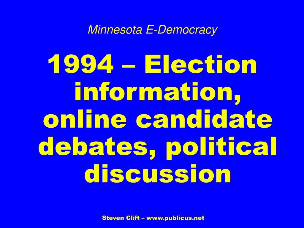 Minnesota E-Democracy