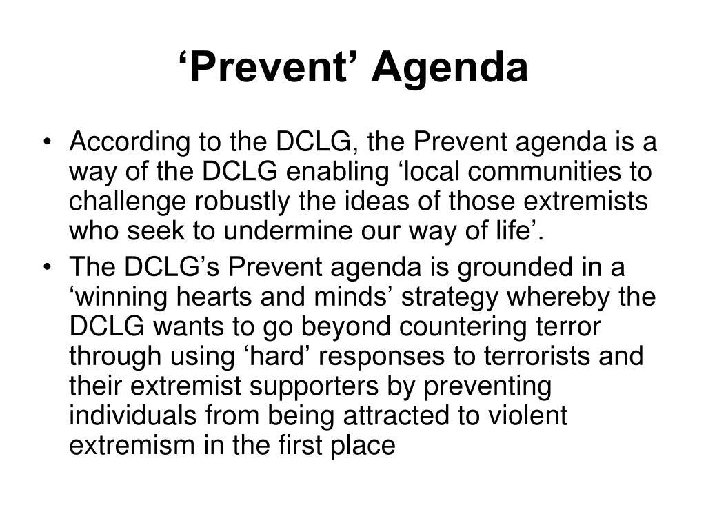 'Prevent' Agenda