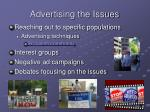 advertising the issues