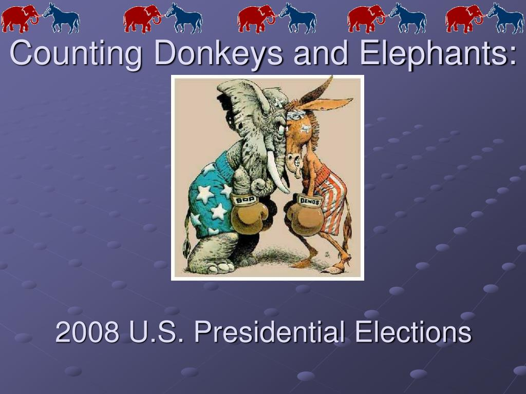 counting donkeys and elephants