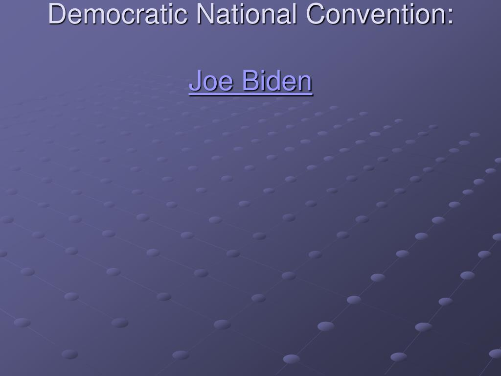 Democratic National Convention: