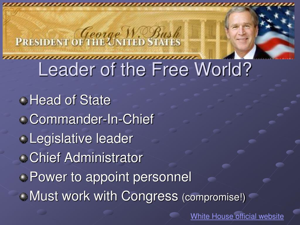 Leader of the Free World?