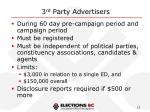 3 rd party advertisers