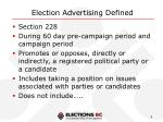 election advertising defined