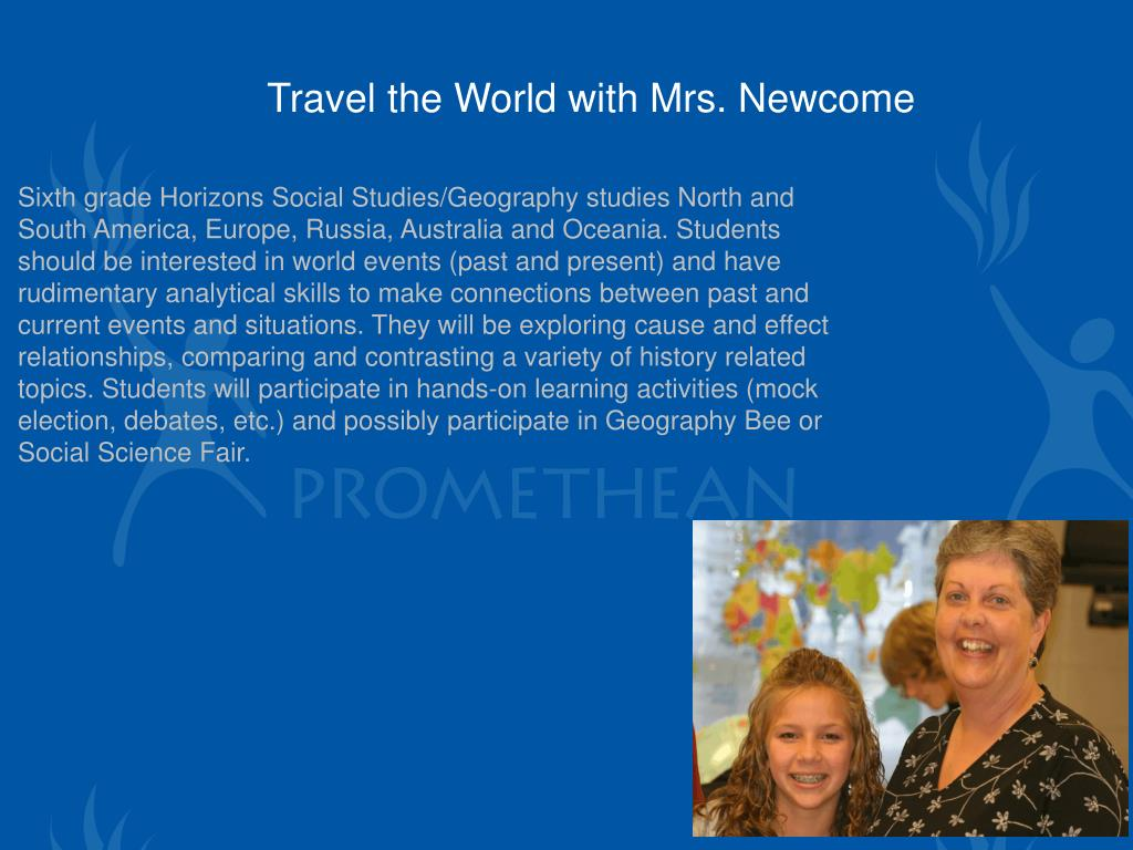 Travel the World with Mrs. Newcome