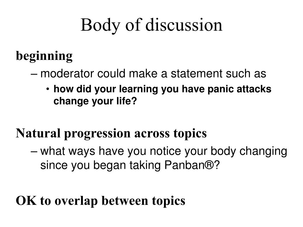 Body of discussion