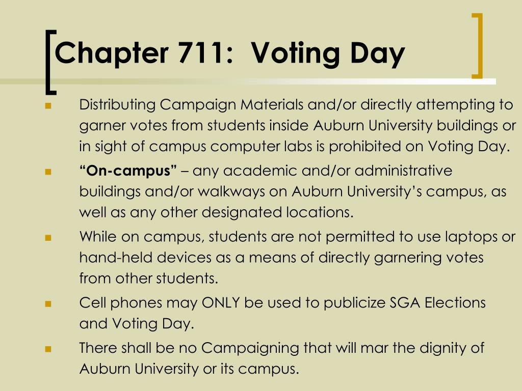 Chapter 711:  Voting Day