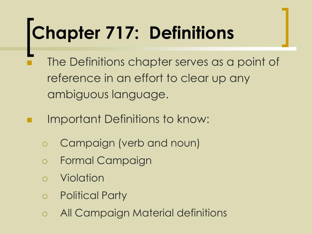 Chapter 717:  Definitions