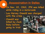 assassination in dallas