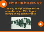 bay of pigs invasion 196120