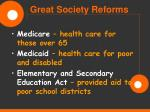 great society reforms