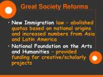 great society reforms45