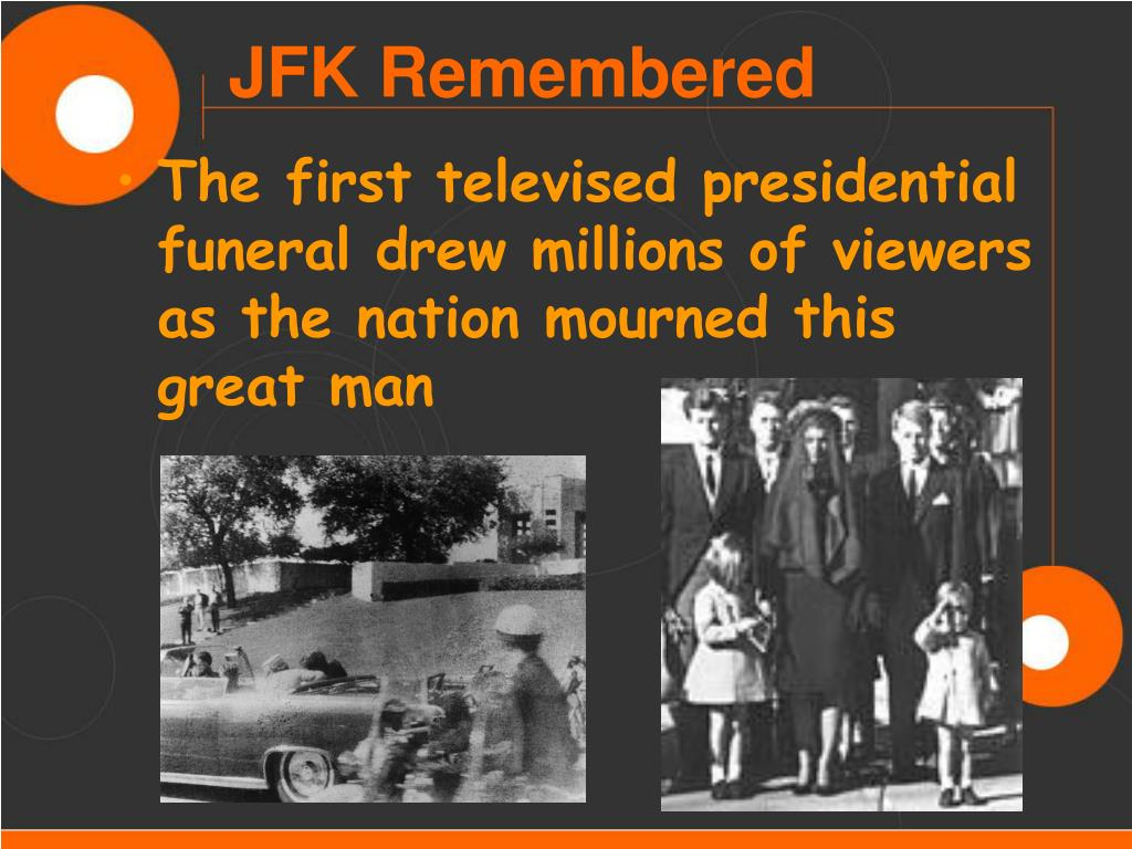 The first televised presidential funeral drew millions of viewers as the nation mourned this great man