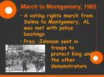 march to montgomery 1965