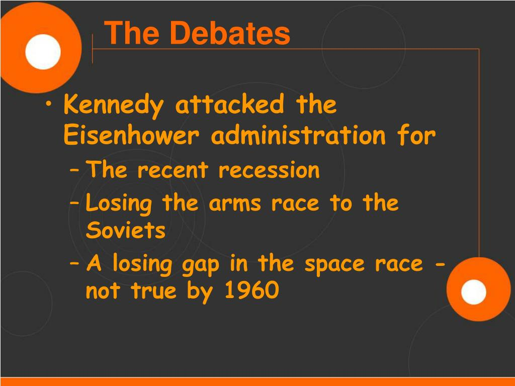Kennedy attacked the Eisenhower administration for