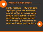 women s movement