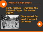 women s movement81