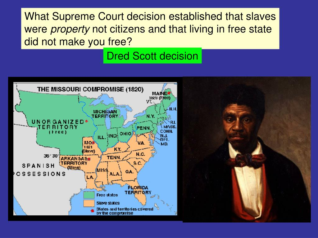 What Supreme Court decision established that slaves