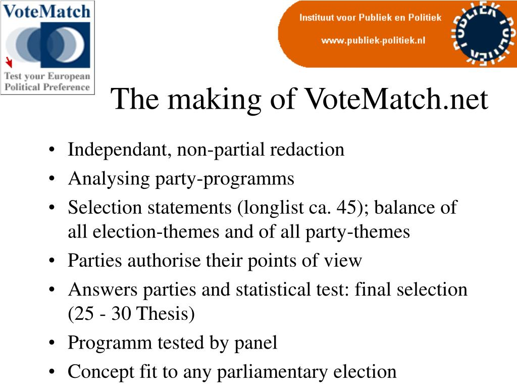 The making of VoteMatch.net