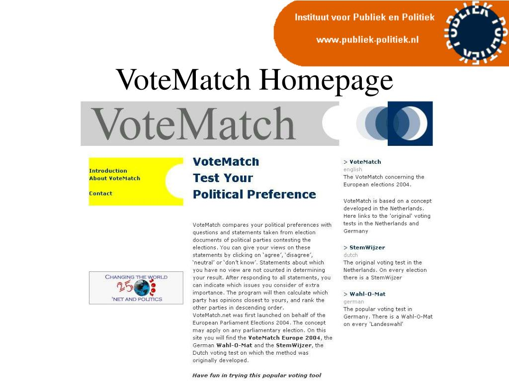 VoteMatch Homepage