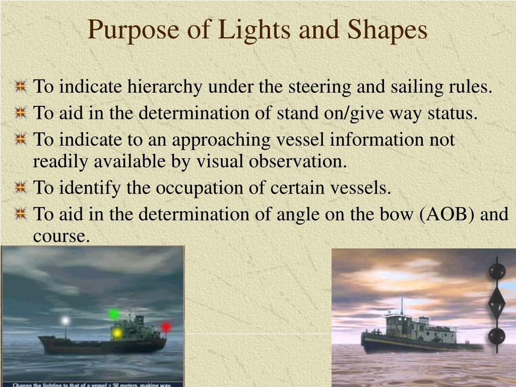 Purpose of Lights and Shapes