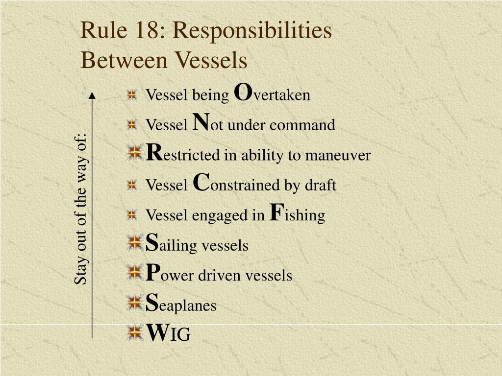 Rule 18: Responsibilities