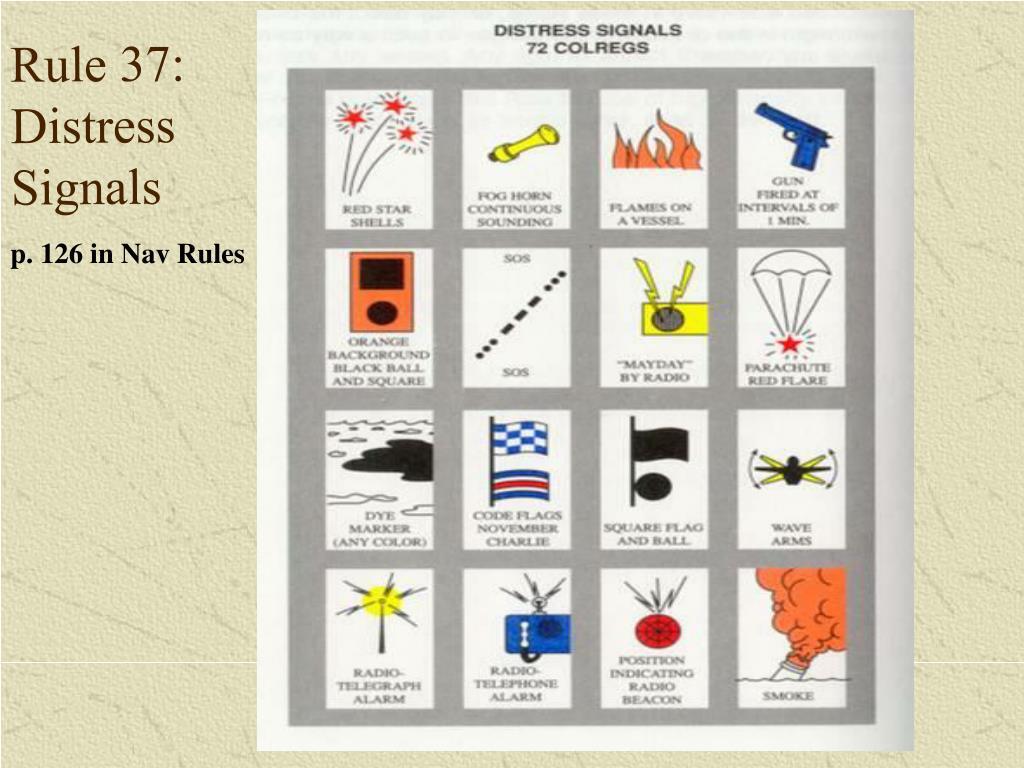 Rule 37: Distress Signals