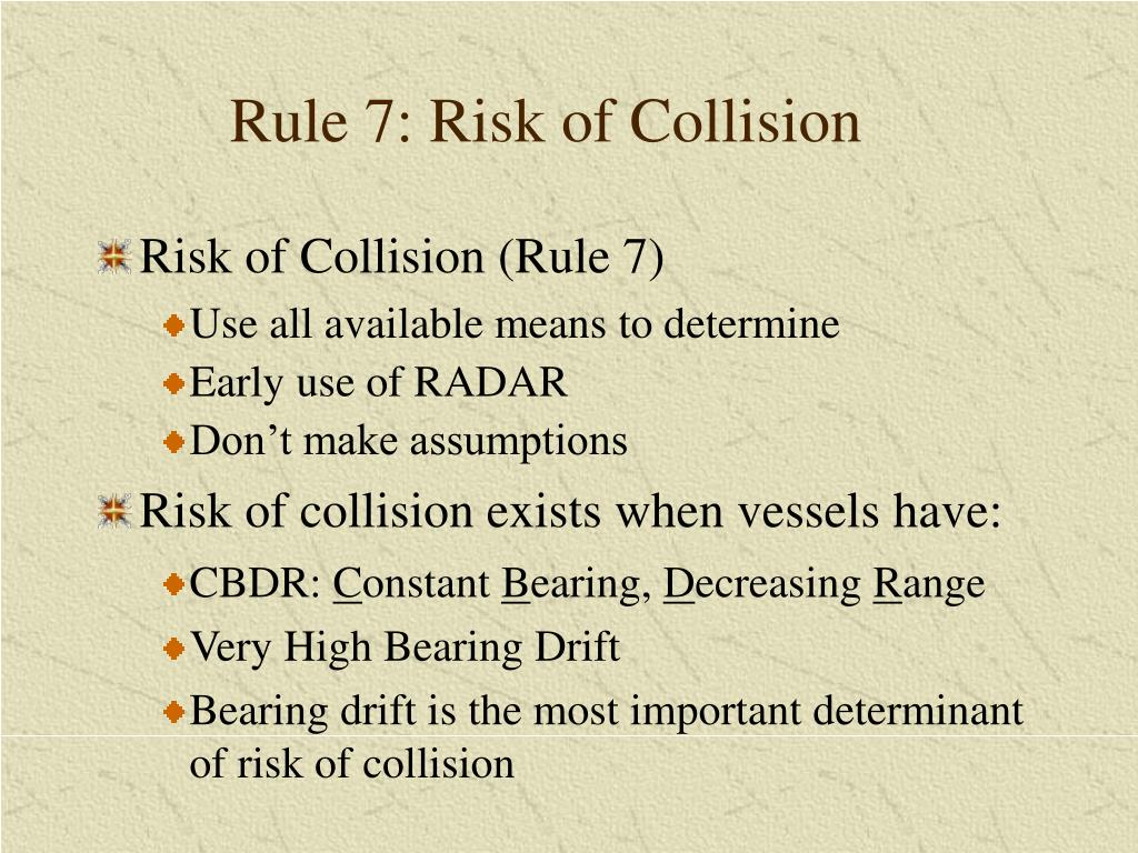 Rule 7: Risk of Collision