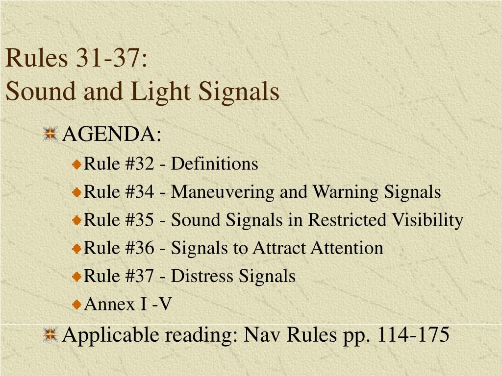 Rules 31-37: