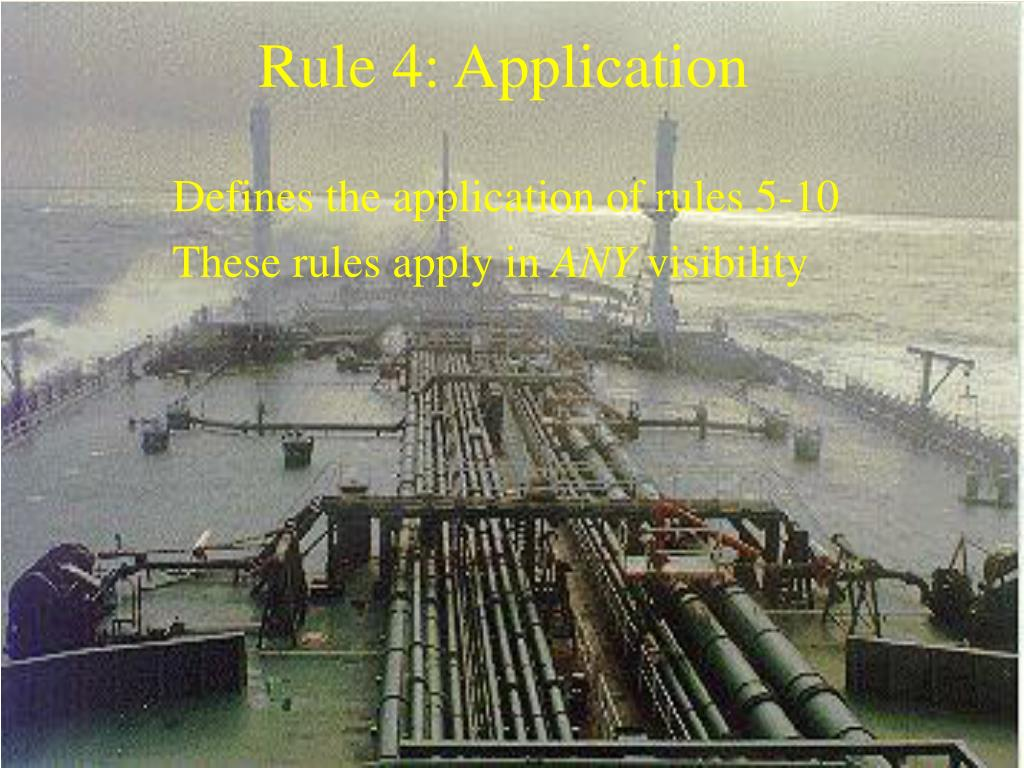 Rule 4: Application