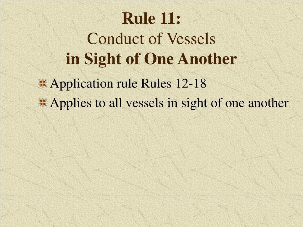 Rule 11: