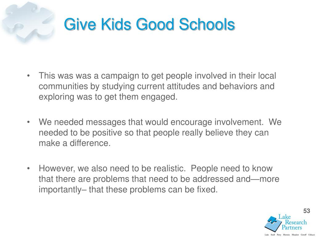 Give Kids Good Schools